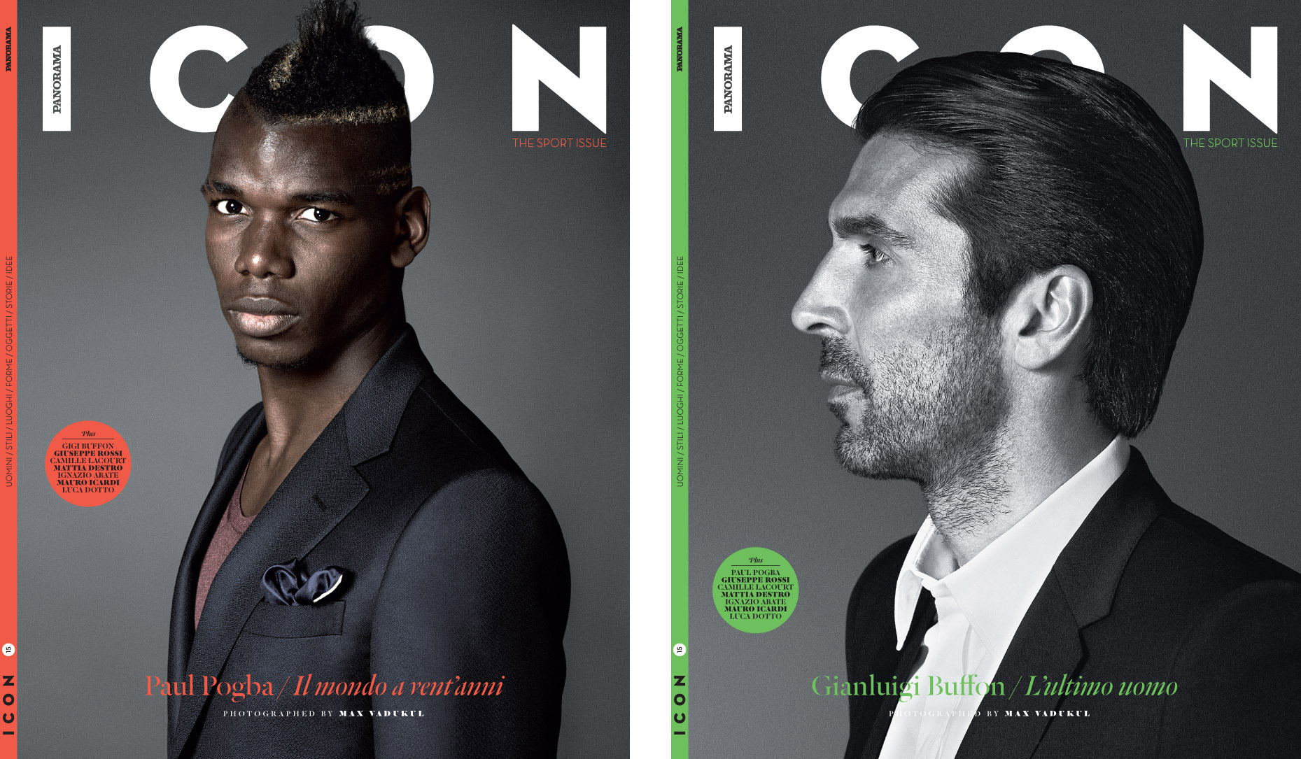 Paul Pogba and Gianluigi Buffon
